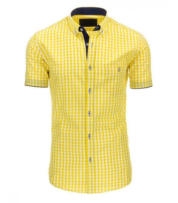 6554d0430ee1 Vynikajúca pánska kockovaná košeľa. Farby  biela