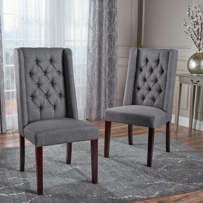 blythe dark gray dining chairs set of 2 diningchairset office rh pinterest com