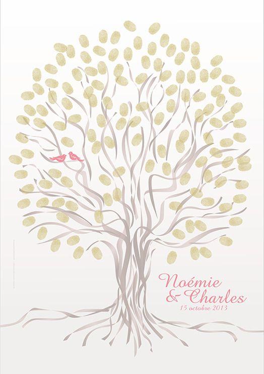 arbre empreintes mariage ou anniversaire 60x80cm 120 140 empreintes mariage and wedding