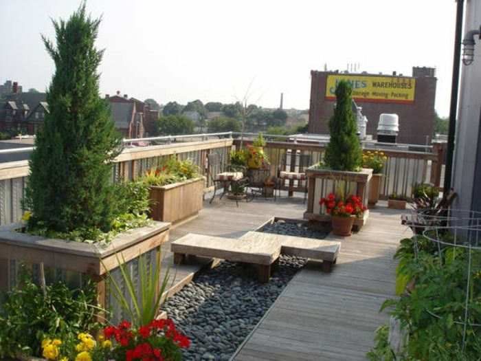 Terrassen » 28 Ideen für Terrassengestaltung auf dem Dach #ideen ...