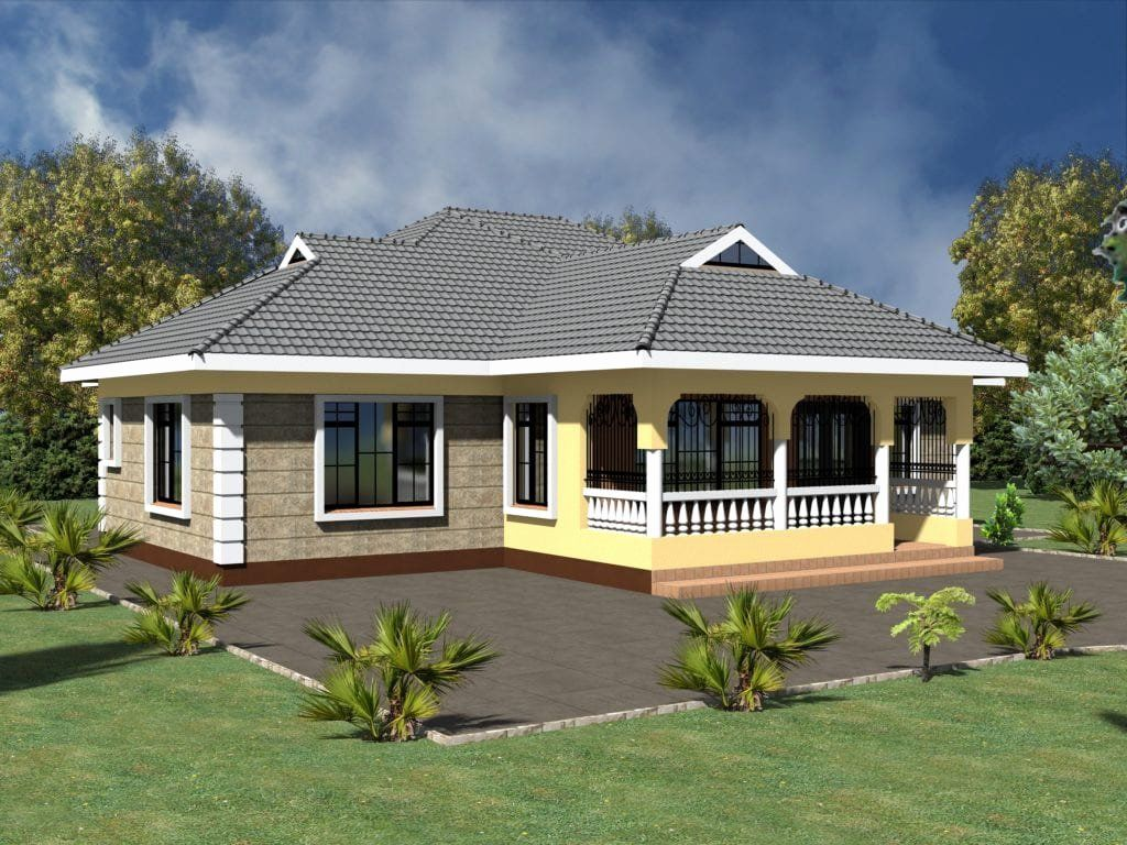 Tiny House Plans 3 Bedroom Fresh Simple 3 Bedroom House Plans Without Garage House Designs In Kenya Modern Bungalow House Bungalow House Design