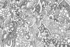 Any one fancy a bit of colouring? Fine pen on cartridge paper, approx A4 ins ize.
