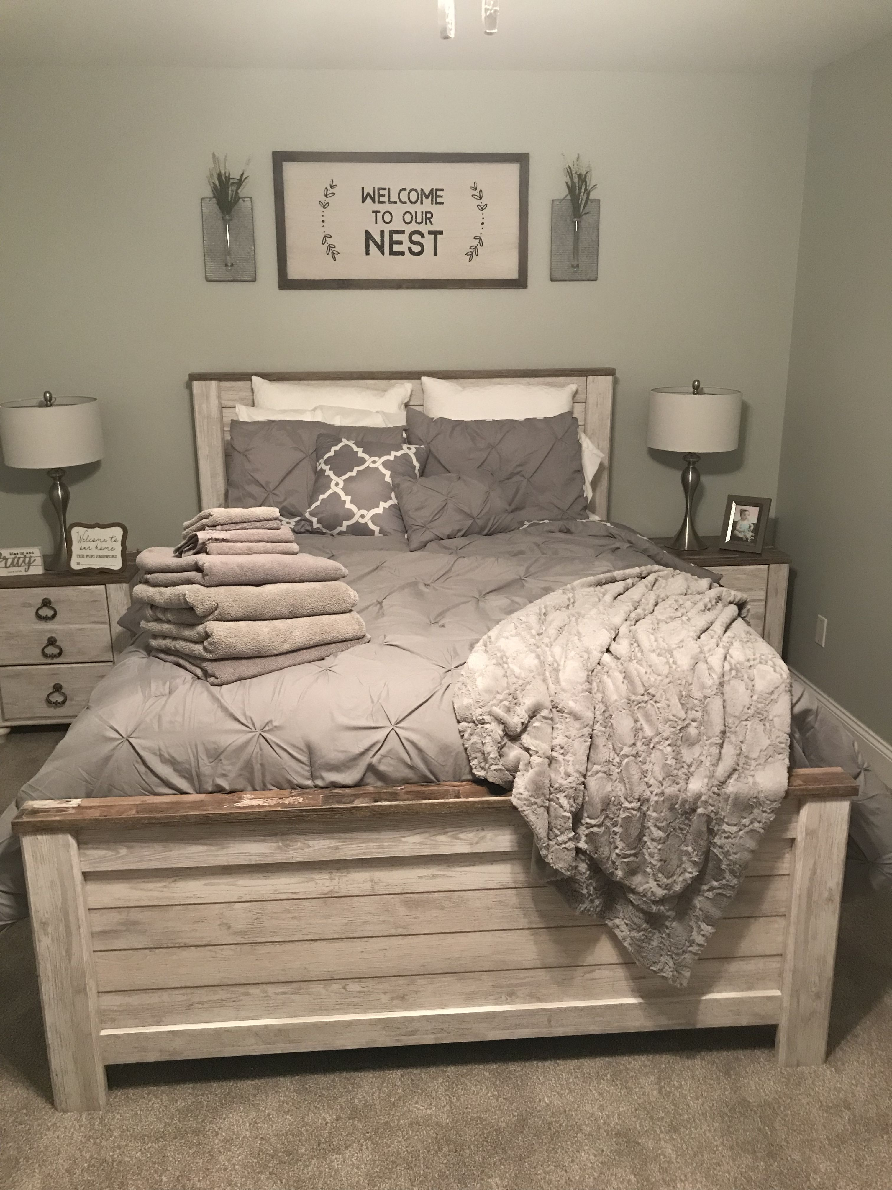 Guest Bedroom Ideas Sign From Hobby Lobby Bedding From Target