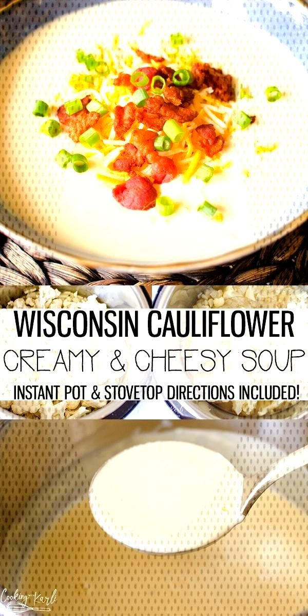 Cauliflower Cheese Soup is an ultra creamy soup made with a only a handful of ingredients. This is