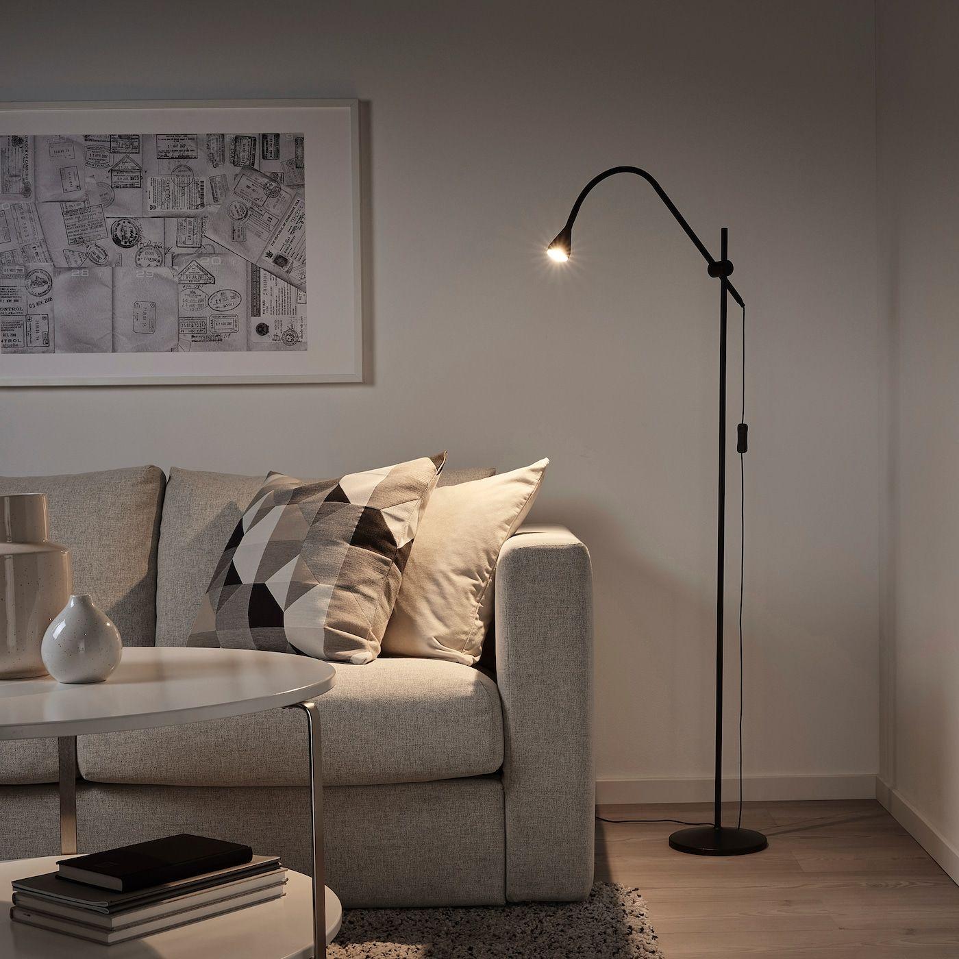 Navlinge Stand Leseleuchte Led Schwarz Ikea Deutschland Led Stehleuchte Led Leuchtmittel Und Led Lampe