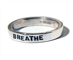 BREATHE - Sterling Silver Ring