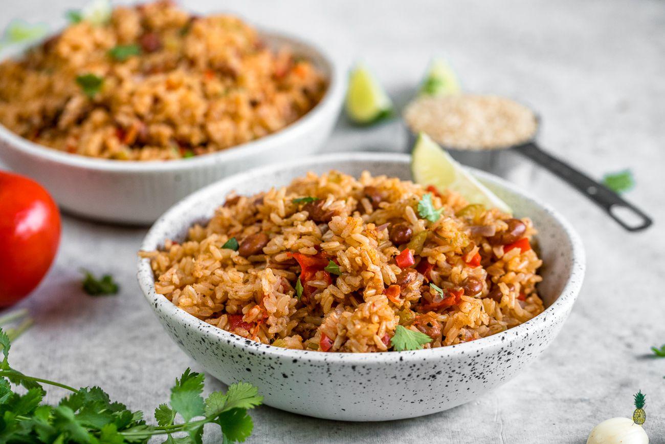 Vegan Spanish Rice and Beans (healthy & oilfree) Recipe