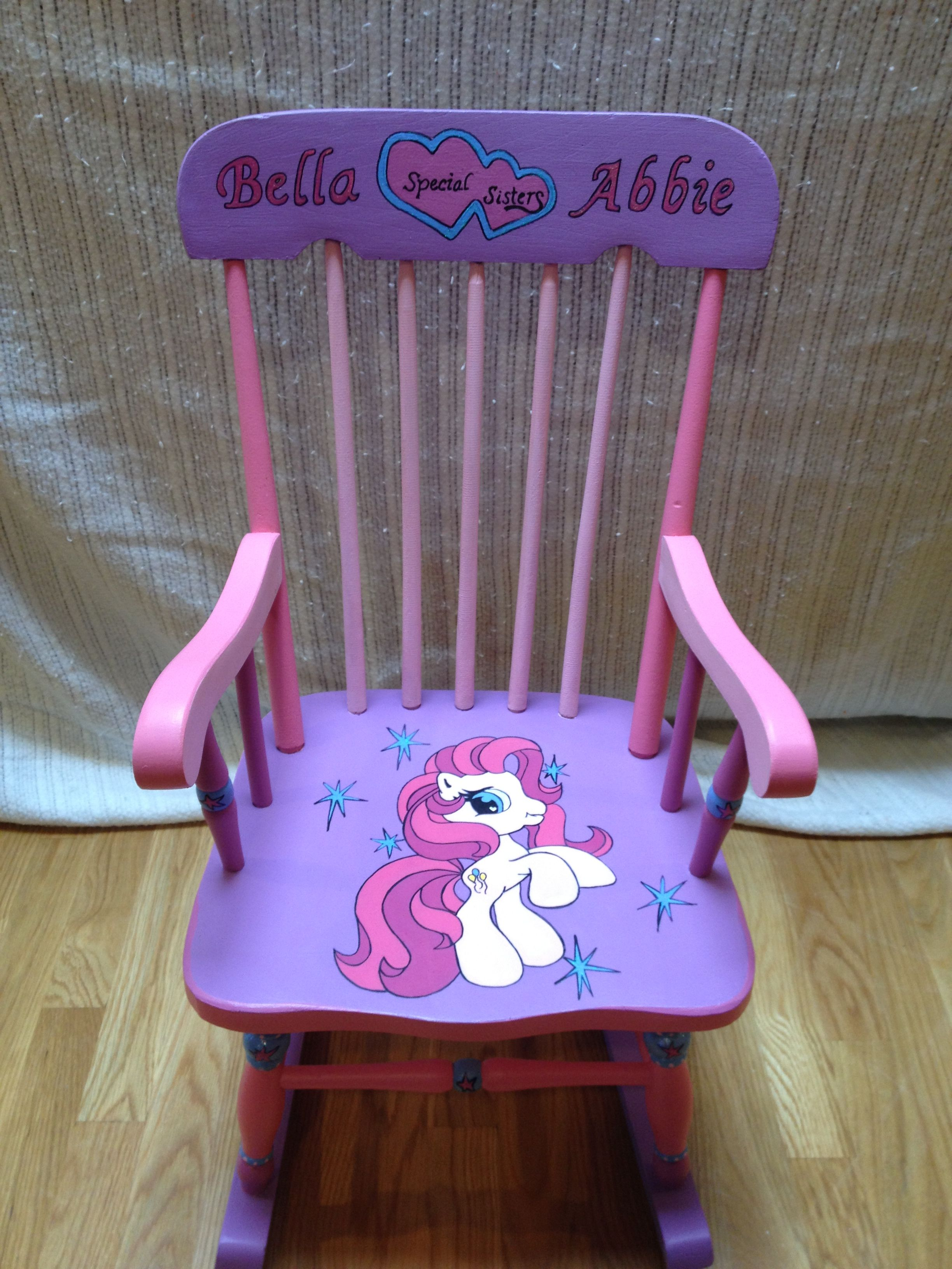 my little pony rocking chair personalized for two sisters my little pony rocking chair personalized for two sisters