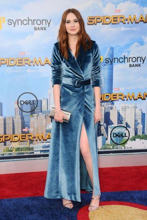 b0d2ef0217be Karen Gillan in Self-Portrait at the LA premiere for Spider-Man  Homecoming  on June 28