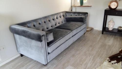 Sofa von Impressionen, Chesterfield-Stil, Samtbezug grau in Nordrhein-Westfalen - Herford | eBay Kleinanzeigen