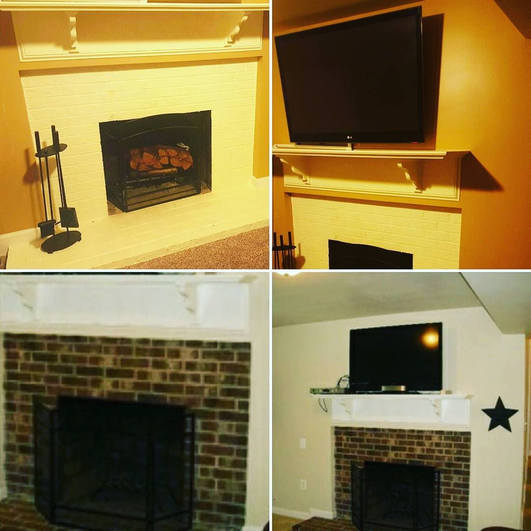 Homesyourhousehold on instagram boring fireplace given a viberant