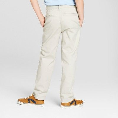 Cat /& Jack Boys Tumbleweed Chino Flat Front School Uniform Pants