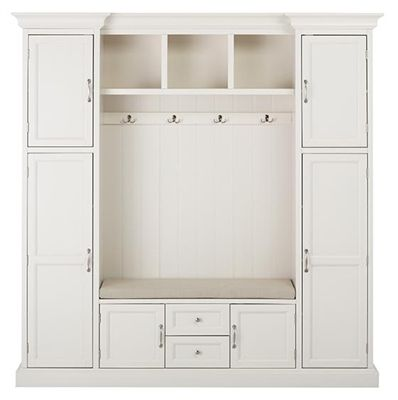Royce All In One Mudroom White Or Brown Finish Mud Room Storage Entryway Storage Cabinet Locker Storage