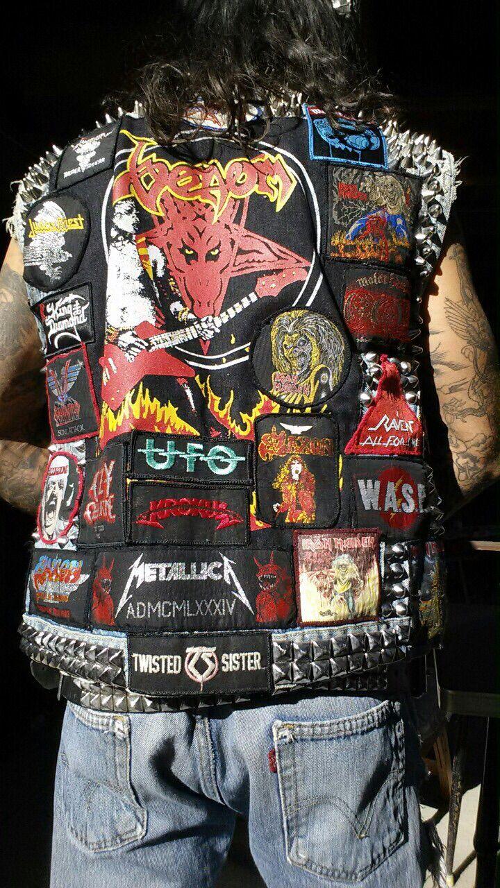 Biker Vest Patches >> Battle vest.   Metal   Pinterest   Punk, Punk rock fashion and Rock fashion
