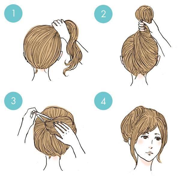20 Tutoriels De Bases Pour Cheveux Courts Et Mi Longs Coiffures