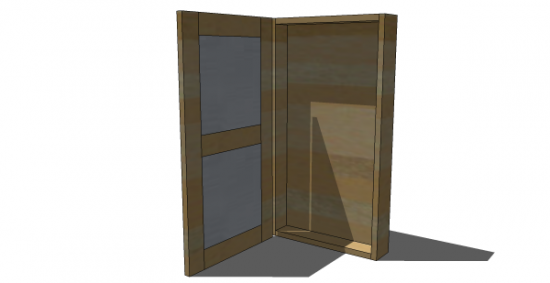 Free DIY Furniture Plans to Build a Tall Jewelry Armoire Except