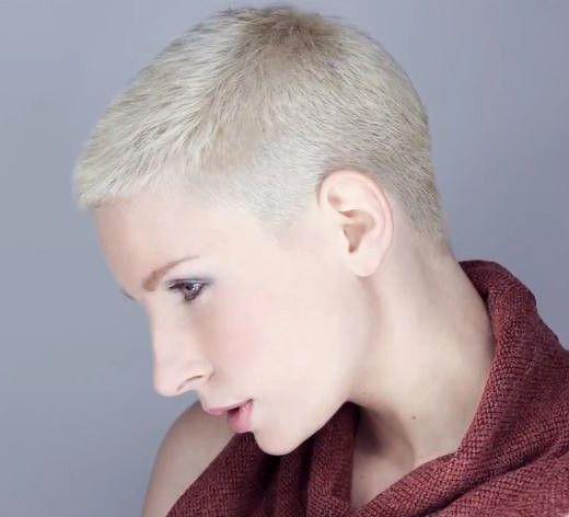 Cortes de pelo corto para mujer rapado