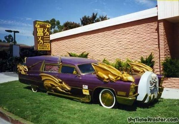 Purple Decked Out Hearse My Morbid Side