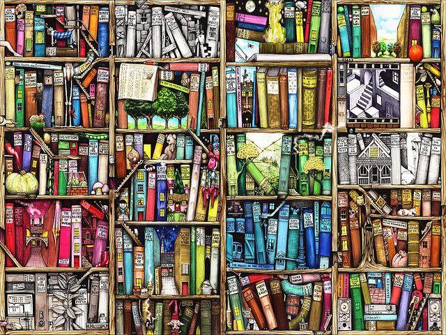 Bookshelf By Colin Thompson Book Art Bookshelves Photo Wallpaper