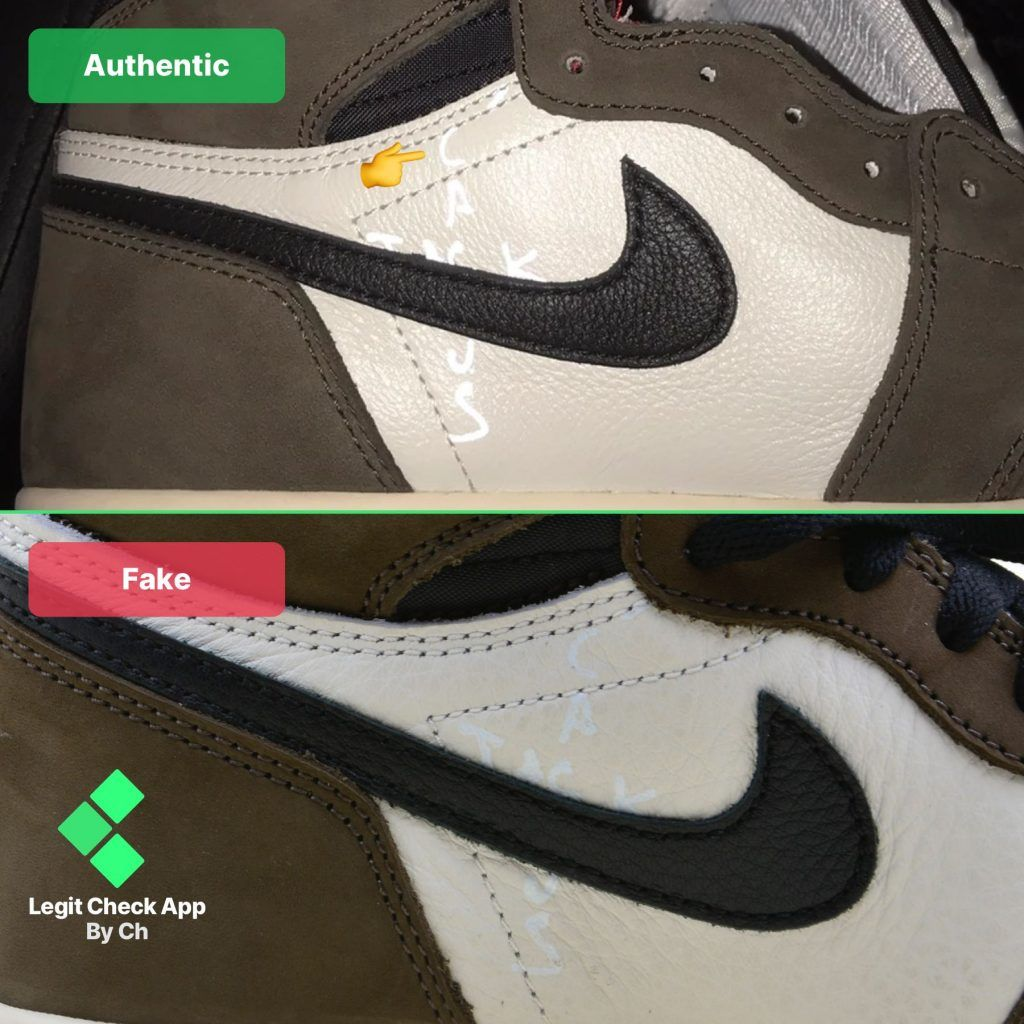 How To Spot The Fake Vs Real Travis Scott Jordan 1 12