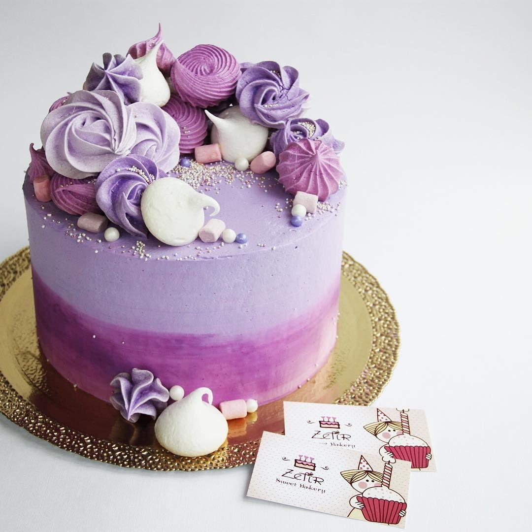 В оттенках фиолетового | Советы по украшению торта ...