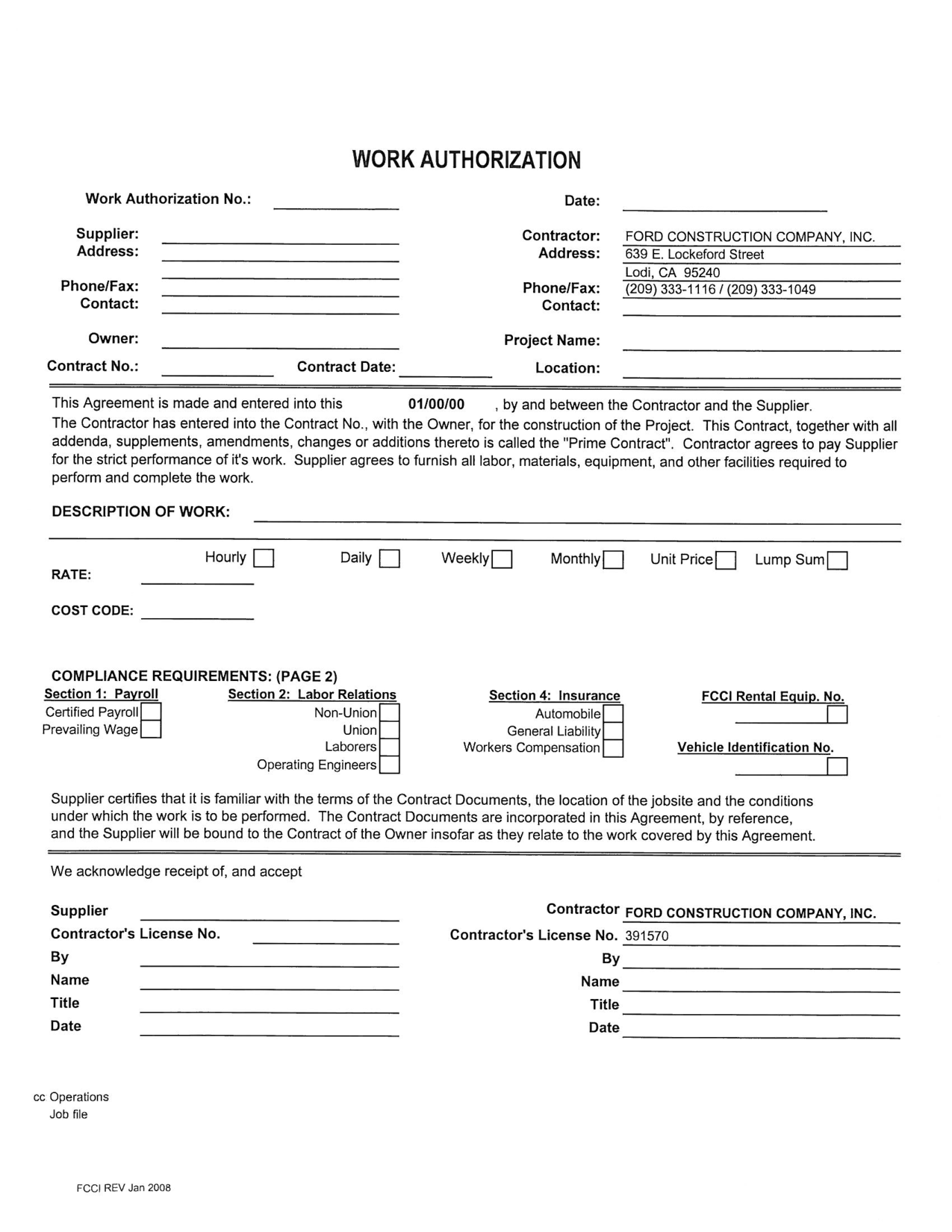 Construction Application Forms Pdf   Google  EForms