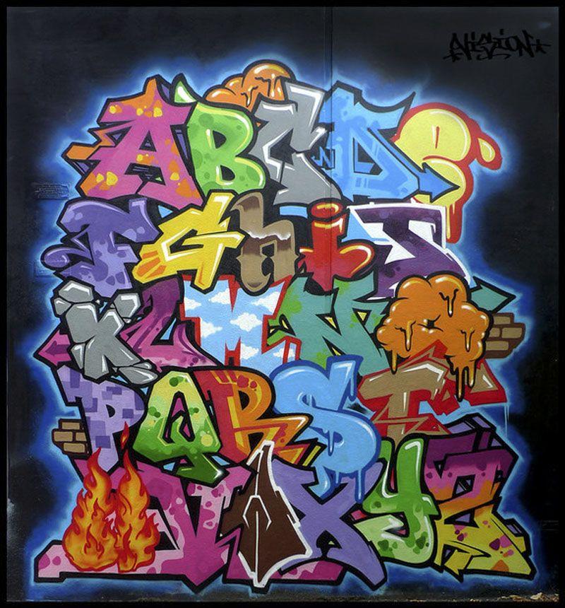 Graffiti Letters A Z By Vizion   Colorful Design U2013 Best Graffiti Alphabet  Letters A Z By Vizion