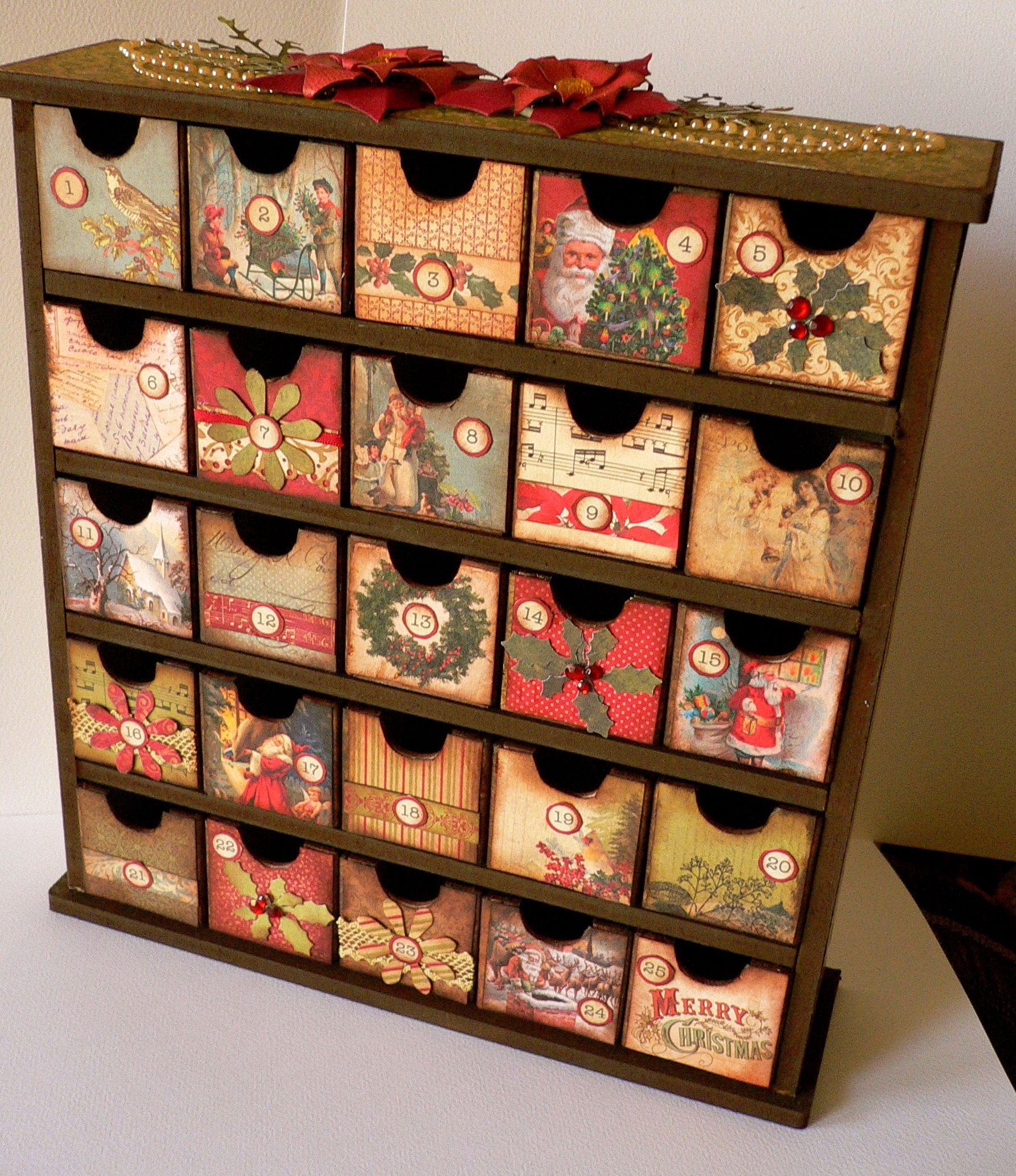Turtle Dove Advent Drawers