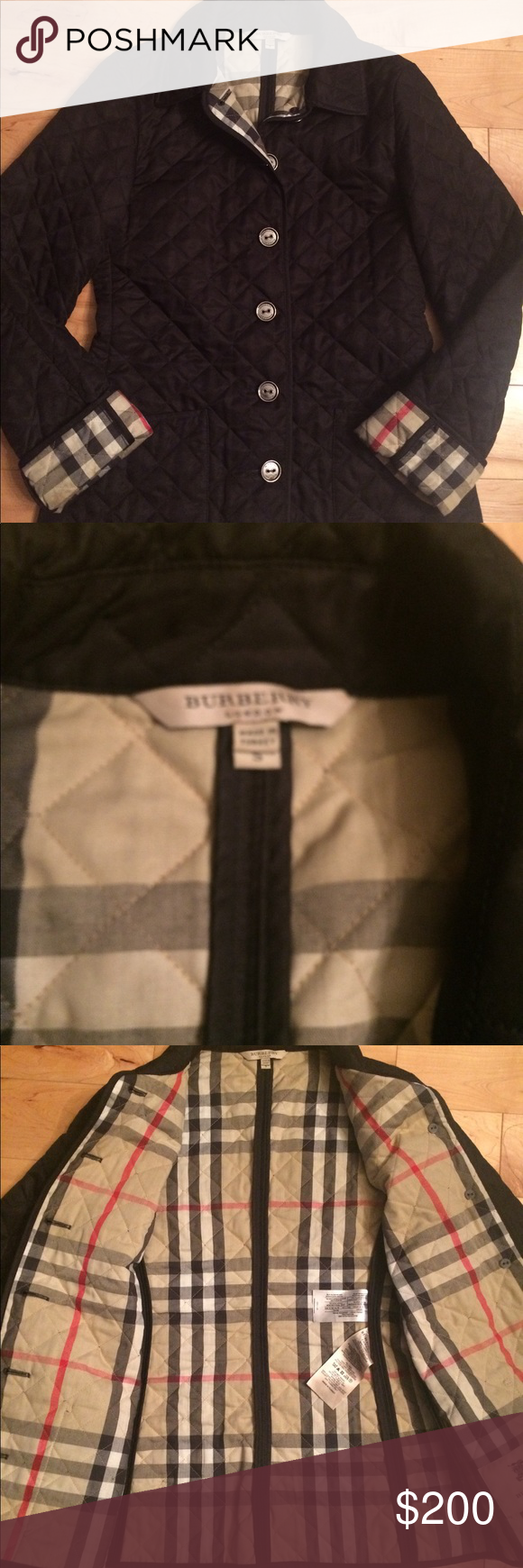 Burberry quilted jacket made in turkey