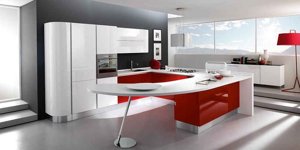 Cucina Moderna Con Isola Curva.Cucina Moderna A U C Aratterizzata Dalla Penisola Curva La
