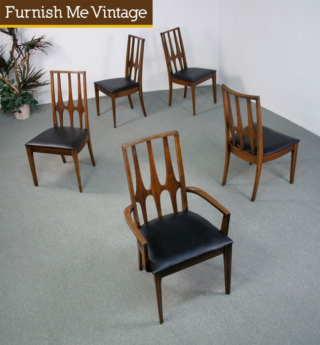 possible dining room chairs Vintage Mid Century Modern Broyhill ...