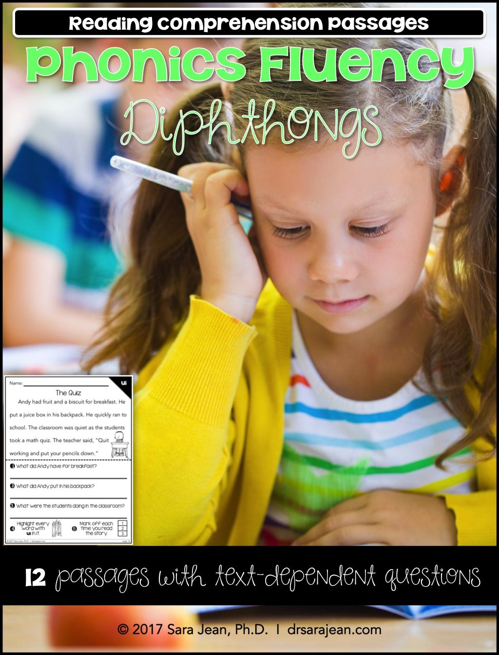 Diphthongs Amp Vowels Worksheets Phonics Fluency Passages