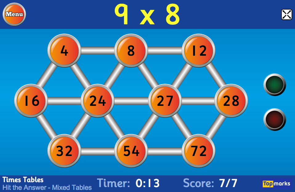 Hit the Button - Quick fire maths practice for 5-11 year olds (Go to ...