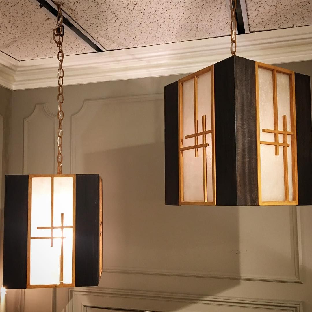 Pendant Favorites Lantern Pendants Composed Of Iron Wood