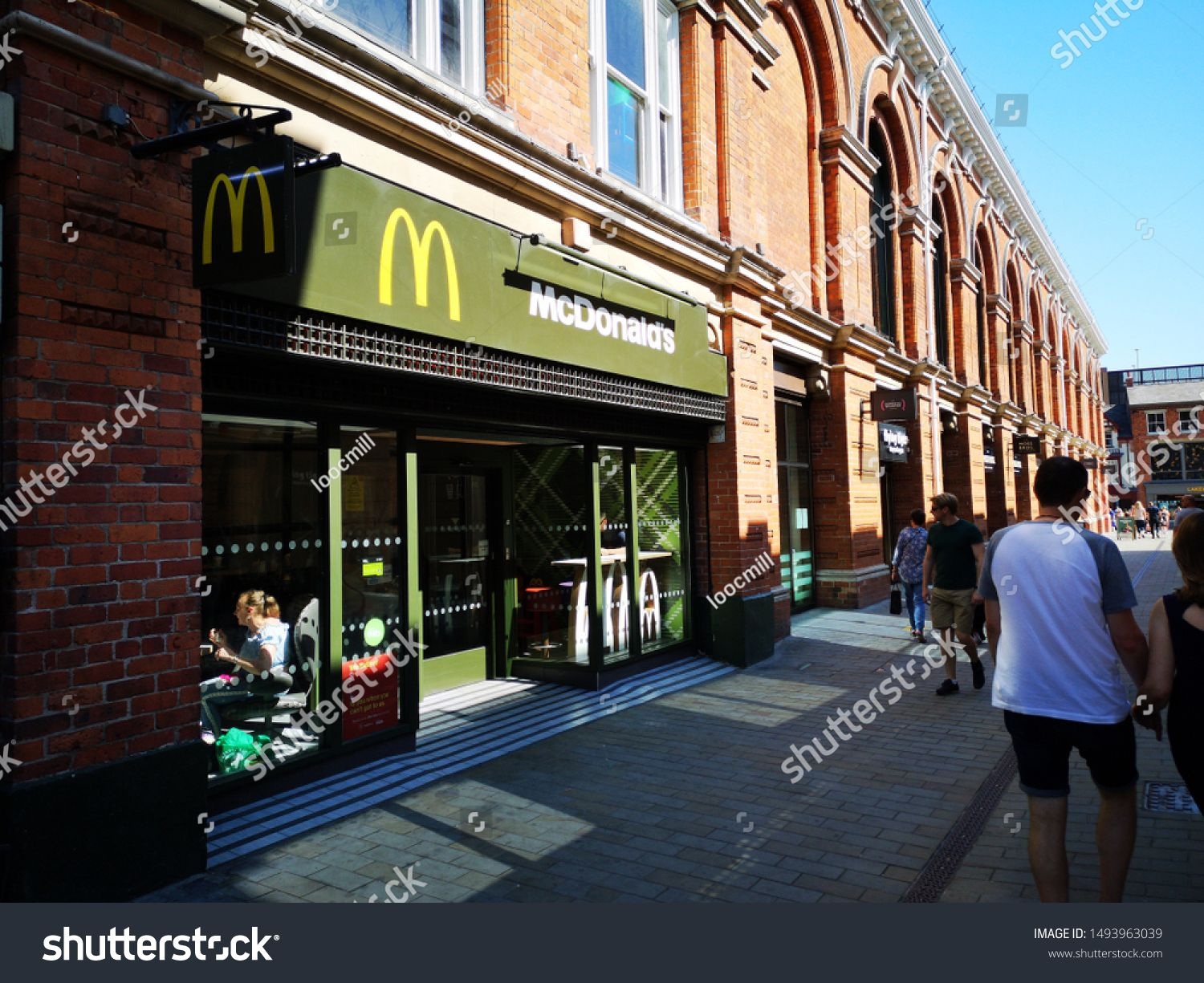 LINCOLN, UNITED KINGDOM, 25th August, 2019: Outside view of the McDonalds fast food restaurant in Lincoln serving burgers, fries and drinks to hungry customers #Sponsored , #Aff, #view#fast#McDonalds#August