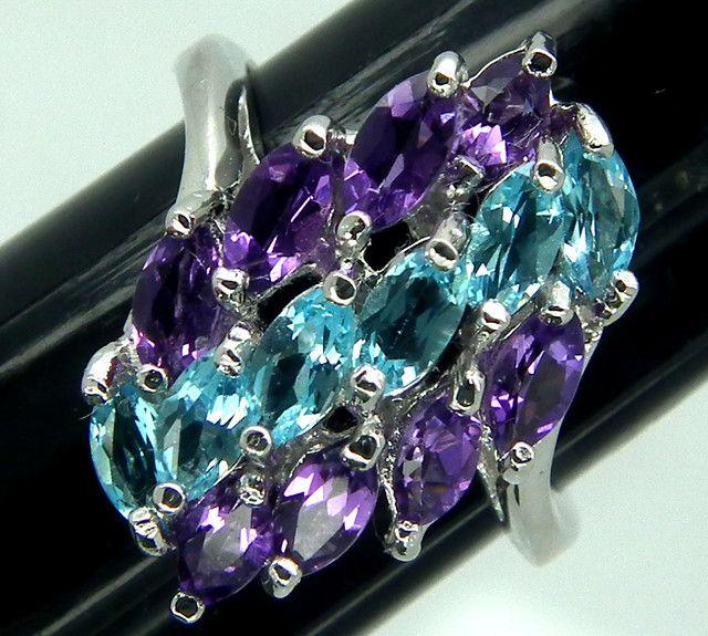 11++ Amethyst and blue topaz jewelry ideas