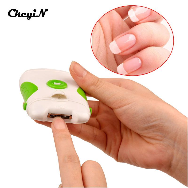 Professional Green Electric Nail Trimmer Clipper Nail File Manicure ...