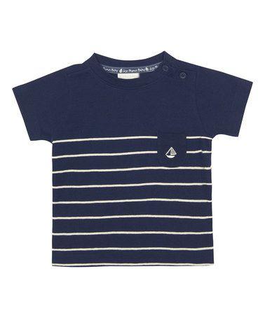 Look what I found on #zulily! Navy Breton Stripe Tee - Infant, Toddler & Boys #zulilyfinds