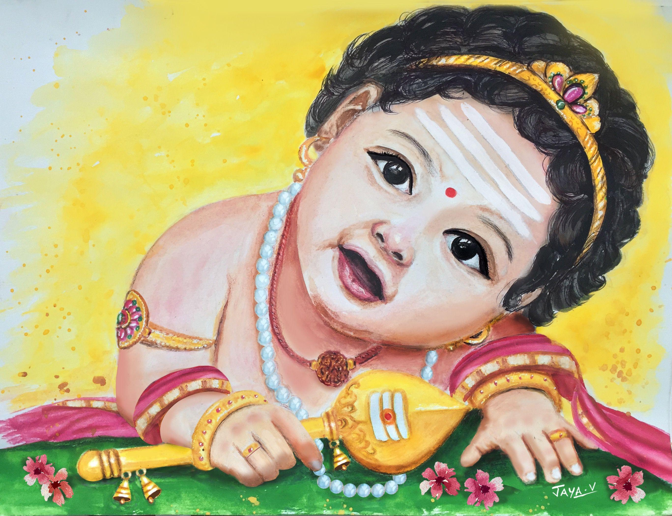 Baby Murugan Watercolor Art Lord Murugan Wallpapers Lord Hanuman Wallpapers Lord Shiva Hd Wallpaper