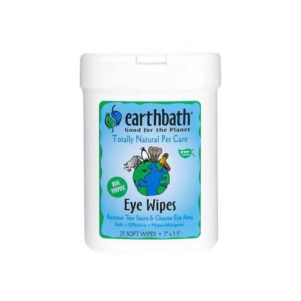 Earth bath eye wipes for dogs 25ct natural pet care