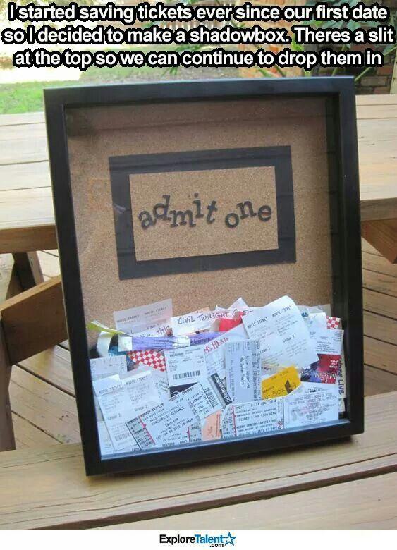 Clever Ticket BoxesBoyfriend IdeasBoyfriend CraftsShadowbox