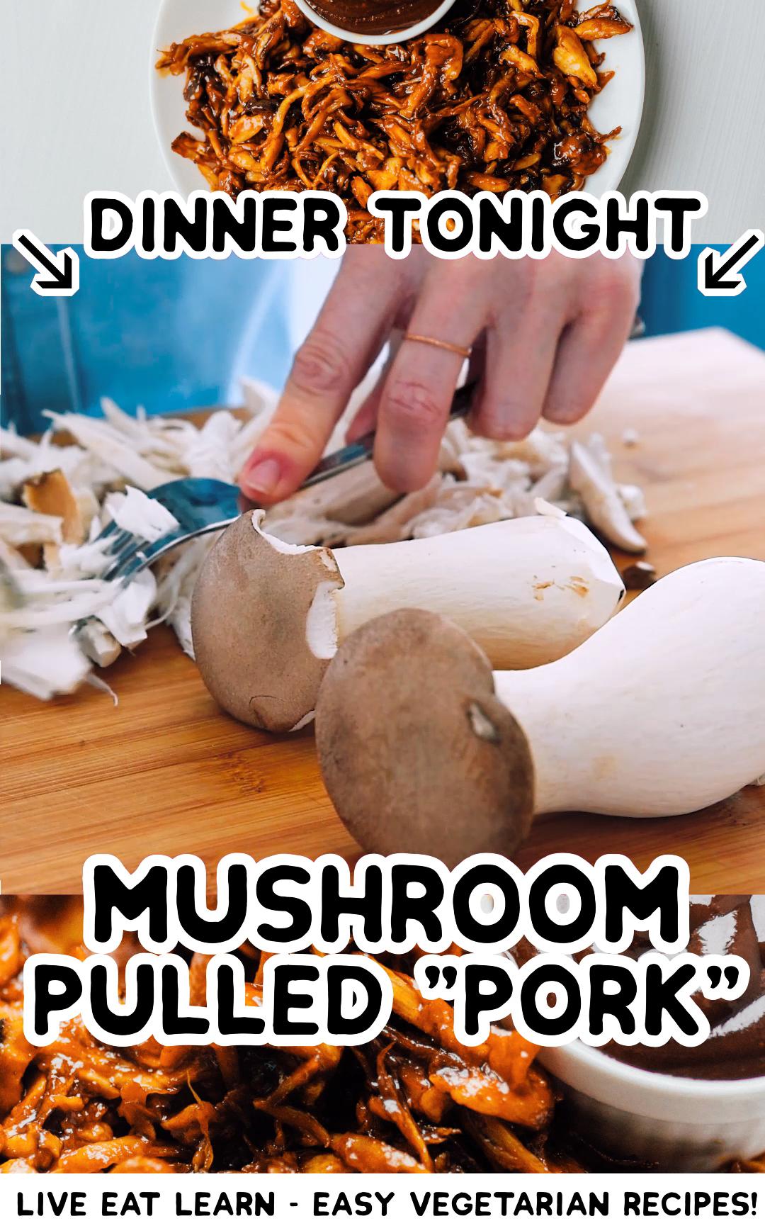 King Oyster Mushroom Pulled Pork