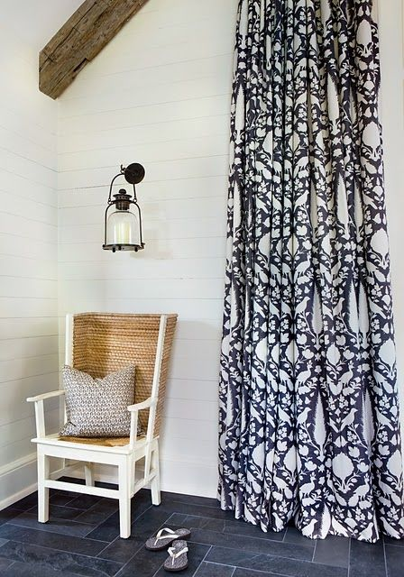 Curtains Ideas black and white patterned curtains : drapery fabric | Fabrics | Pinterest | Pool houses, The floor and ...