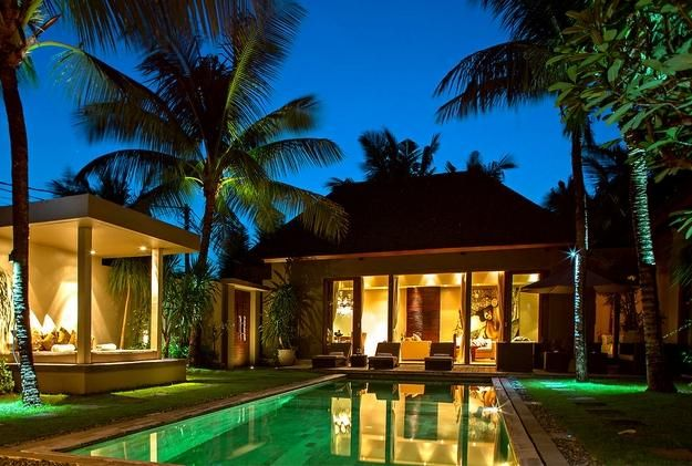 home design, small balinese house with gazebo with lighting