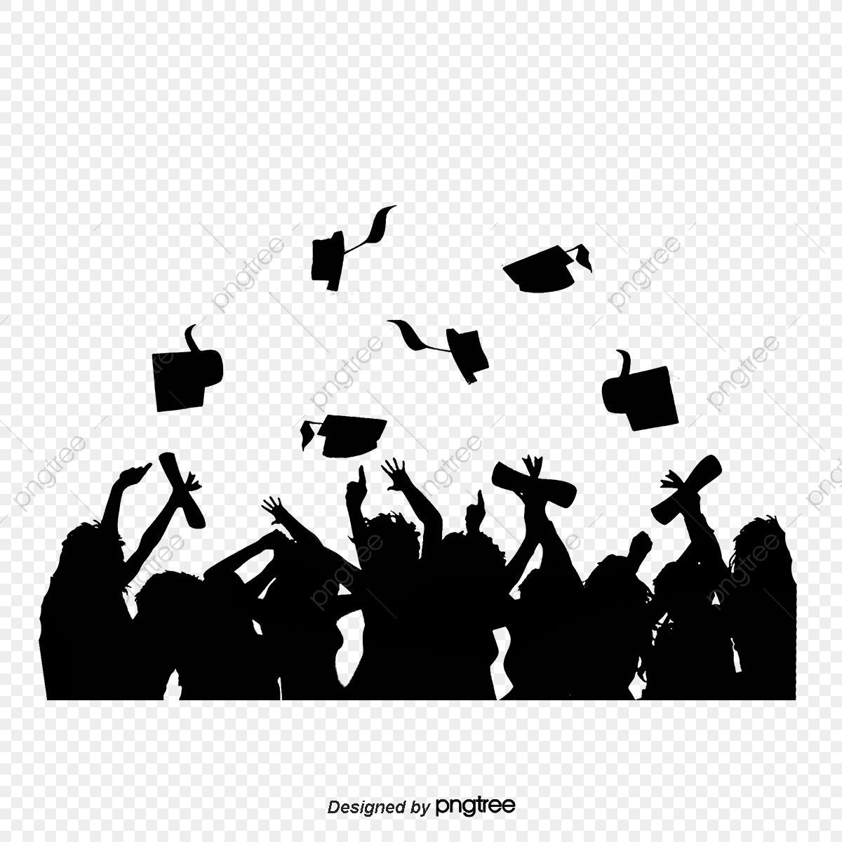 Download This Silhouette Of Graduation Cap Figure Silhouette College Student Silhouette Graduation Poster Graphic Design Background Templates Seasons Poster