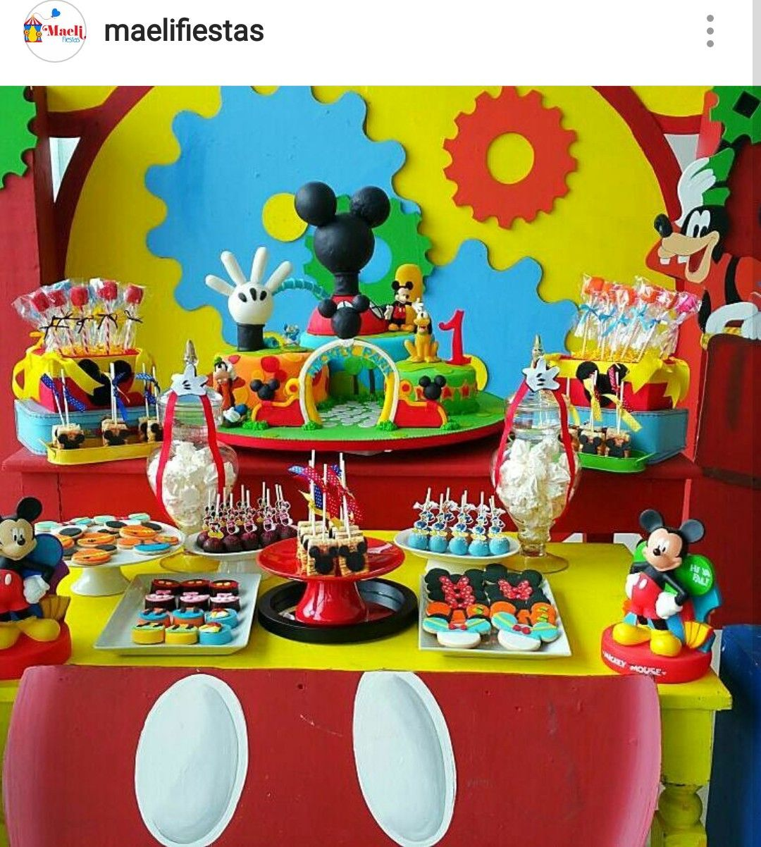 Mickey Mouse Clubhouse Birthday Party Dessert Table And Decor