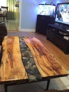 Live Edge Maple River Table Live Edge Furniture Wood Slab Table Live Edge Slab