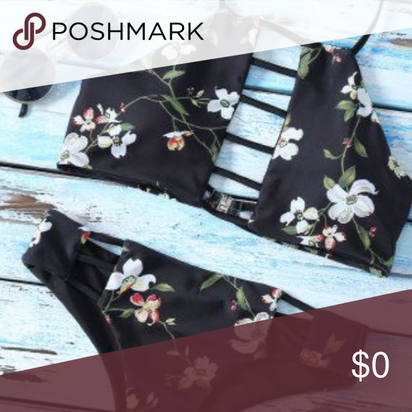 🌼COMING SOON! Black Floral Bikini 🌴COMING SOON! Like to be notified when this boutique item becomes available! 🌺 Swim Bikinis