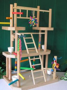 ♥ Pet Bird DIY Ideas ♥ Mischief would love this. The cost of materials to make this is super cheap