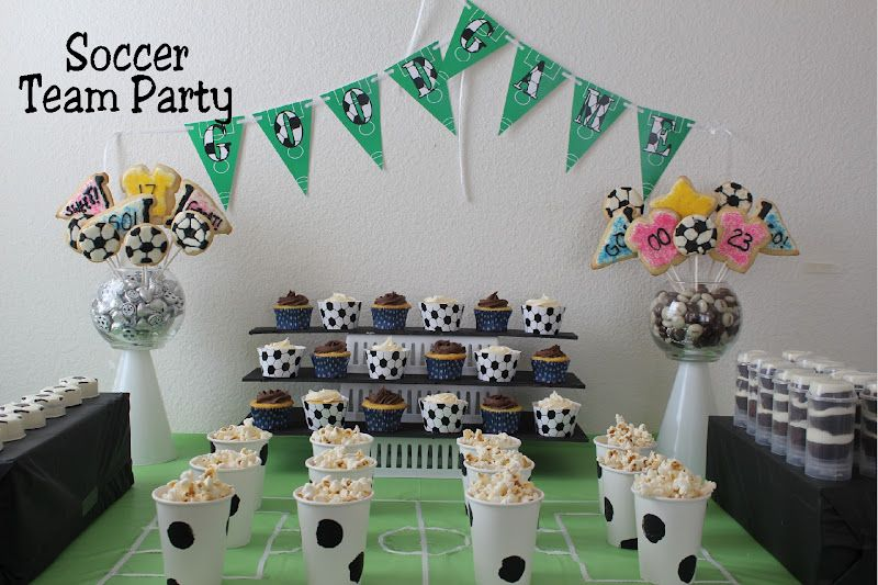 Kims Kandy Kreations Soccer Team Party Dessert Table